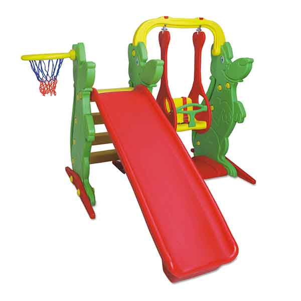 SLIDE WITH SWING AND BASKET
